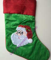 Green Santa Christmas Stocking